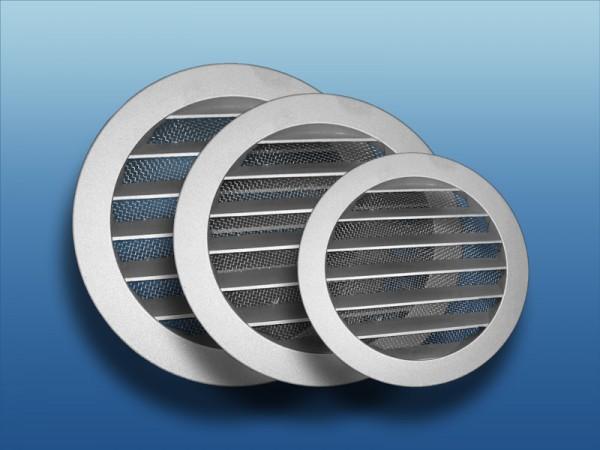 Aluminium Wetterschutzgitter mit Flansch