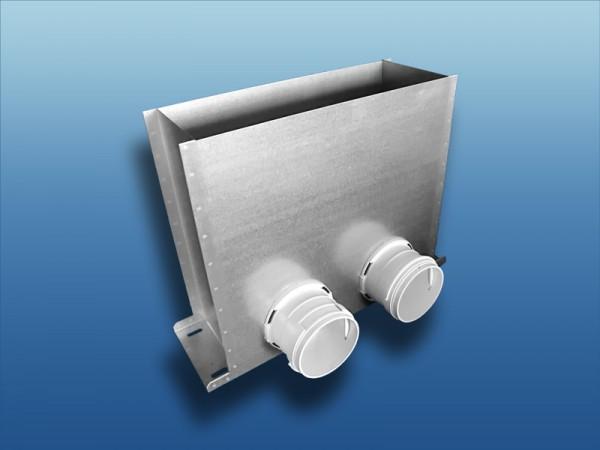 Anschlusskasten Metall für Bodenauslass