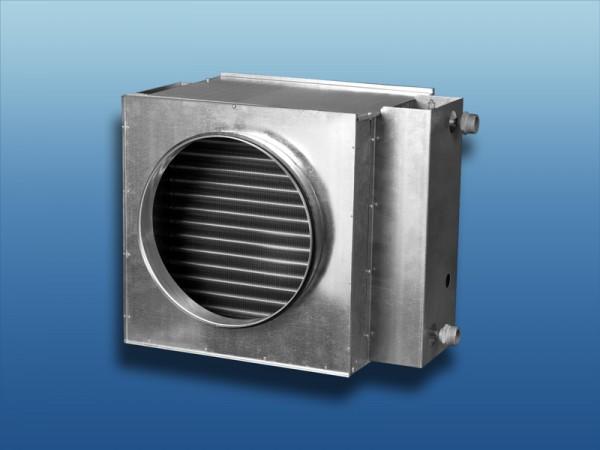 Warmwasser-Heizregister für Rundrohrsysteme