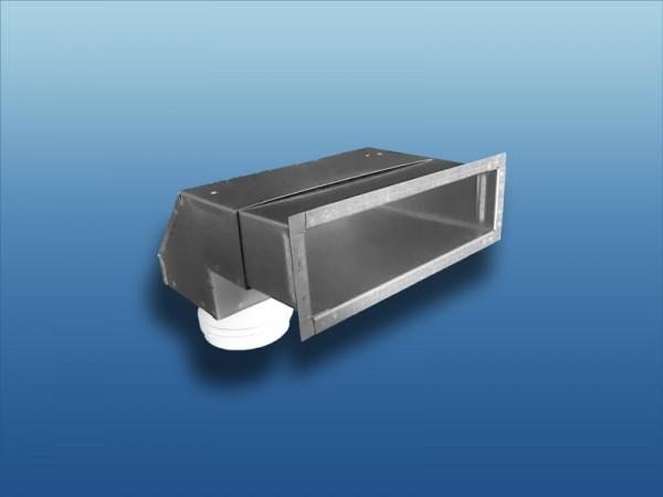 90° Wandauslass Metall