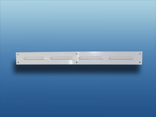 Belüftungsleiste 400x40mm Metall weiß mit Insektenschutz