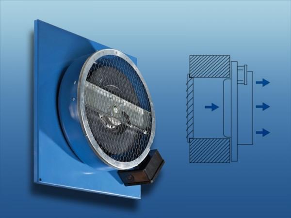Zuluftventilator Serie KVCPN für Aufputzmontage
