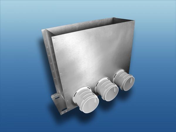 Anschlusskasten Metall für Bodenauslass Ø63 x3