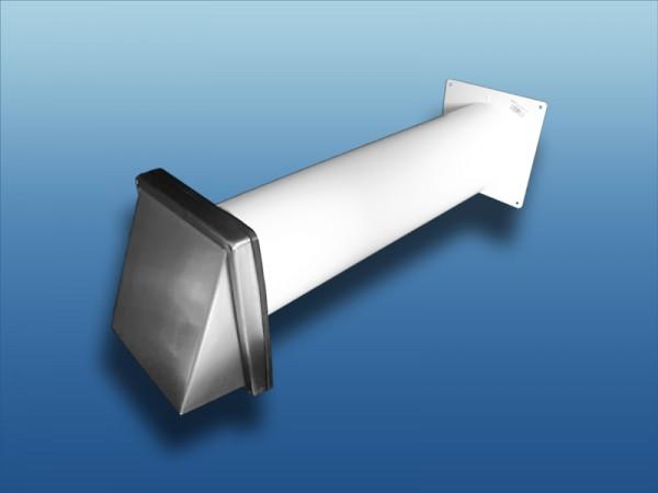 Abluft-Mauerkasten mit Edelstahl Lüftungshaube