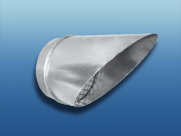 Wickelfalz Ausblasstutzen mit Lippendichtung 45°