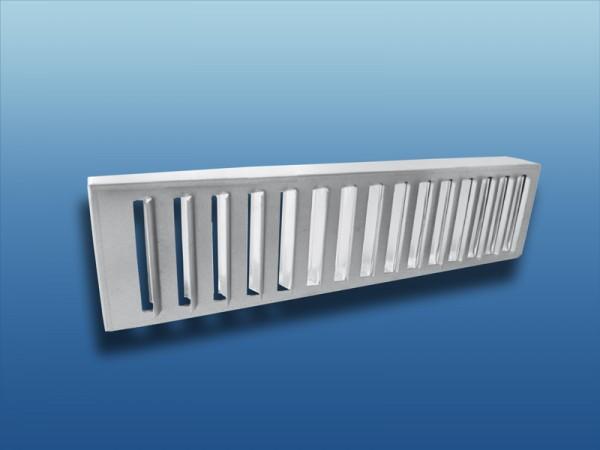 Luftmengenregulierung für Rohreinbaugitter