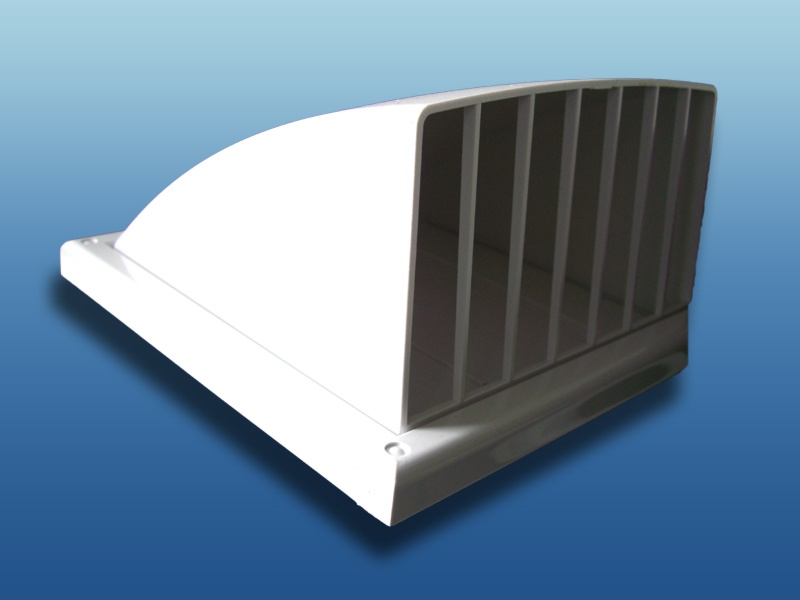 Lüftungshaube Kunststoff mit Flansch Lufthaube Lüftungsgitter