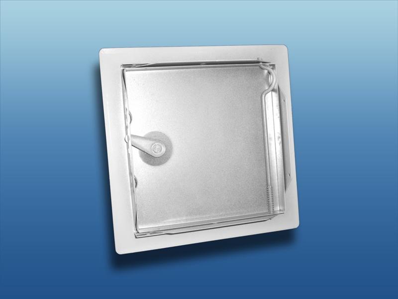 Revisionsklappe Revisionst/ür verzinktes Stahlblech mit 4-Kantverschluss wei/ß RAL 9016 400x400mm//435x435mm