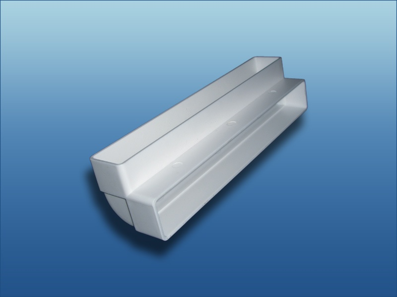 90/° Bogen Kanalbogen vertikal Abluft Zuluft L/üftung System 100 55x110